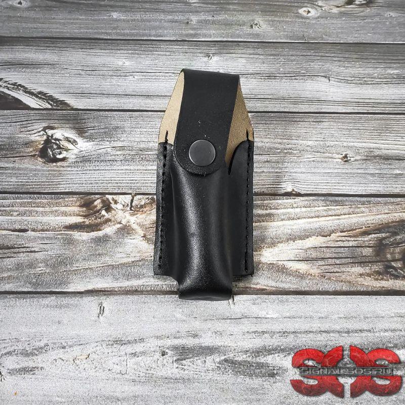 Кожаный чехол для горизонтального и вертикального ношения под 65 мл.