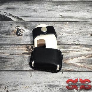Кобура кожаная поясная для устройства «ANTIDOG» с лямкой