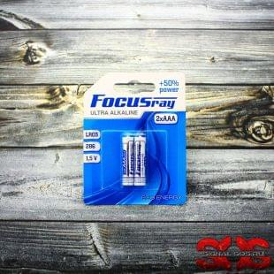Батарейка щелочная «FOCUSray Ultra Alkaline» ААА (286, LR03) 1,5V (2 шт.)