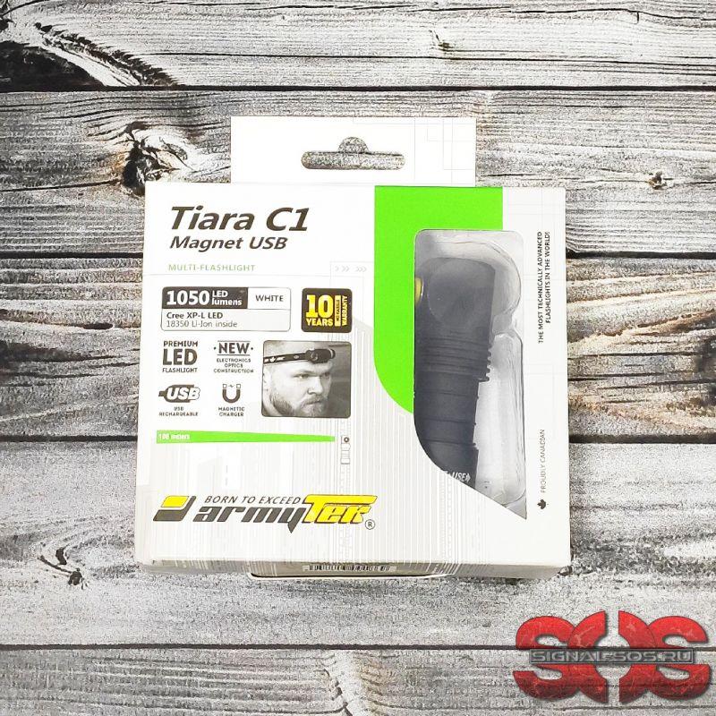 Мультифонарь «Armytek Tiara» C1 Magnet USB XP-L Белый свет