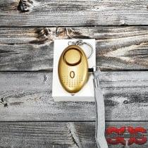 Персональная сигнализация «ZQ-032 120 Gold» с фонариком и чекой