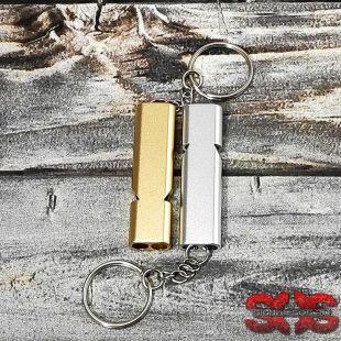 Свисток с двойным отверстием «MA30» алюминиевый