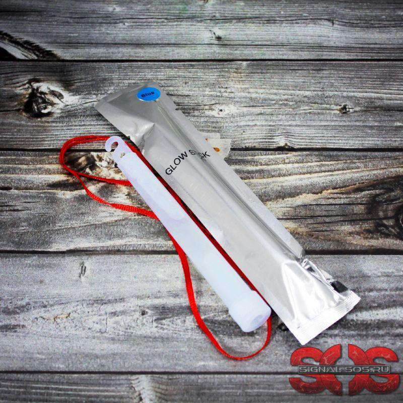 Светящиеся палочка ХИС 15 см. «GLOW STICK» синий в фольге