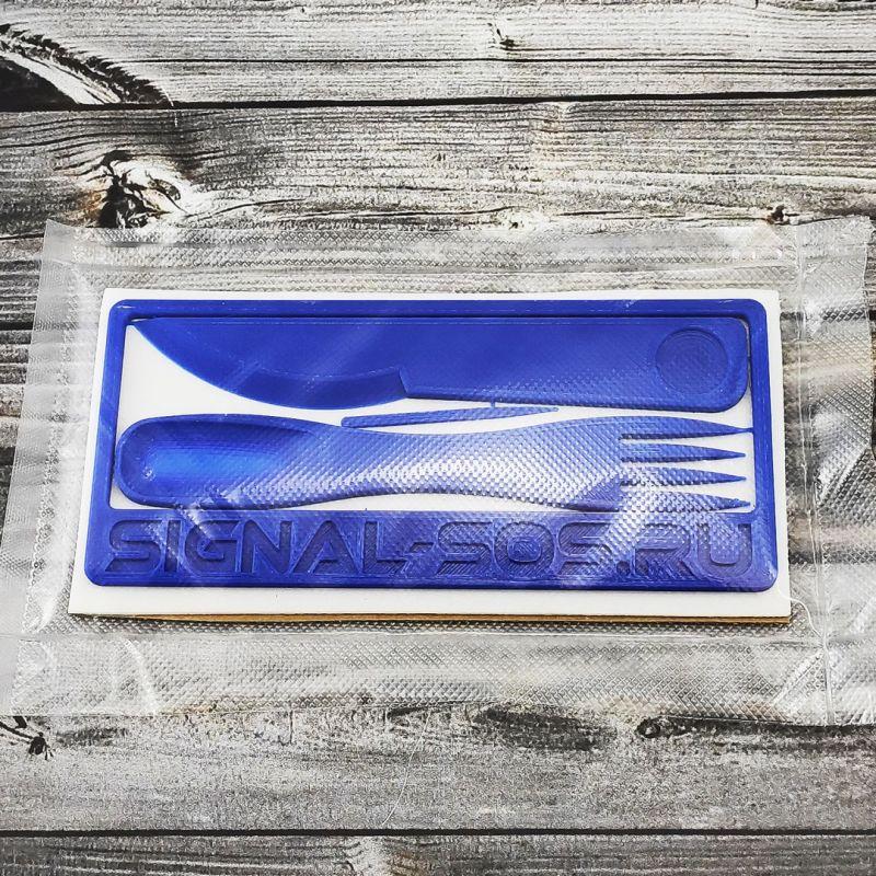 Одноразовый 3D набор вилка ложка нож и зубочистка