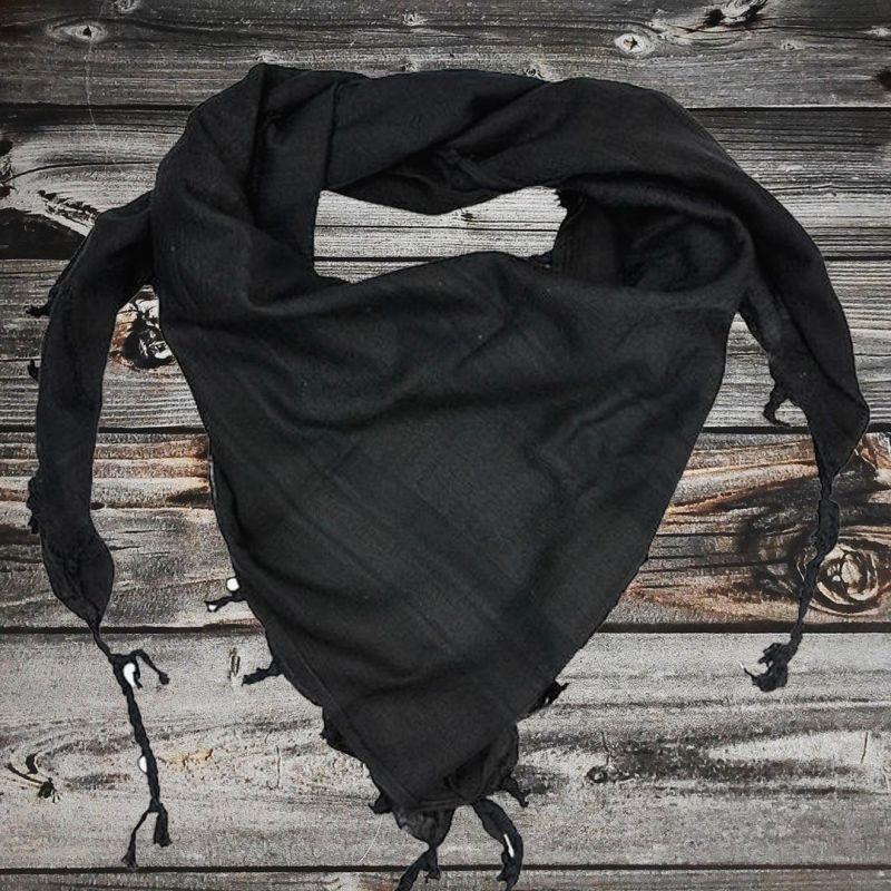 Арафатка моно черная 100% хлопок