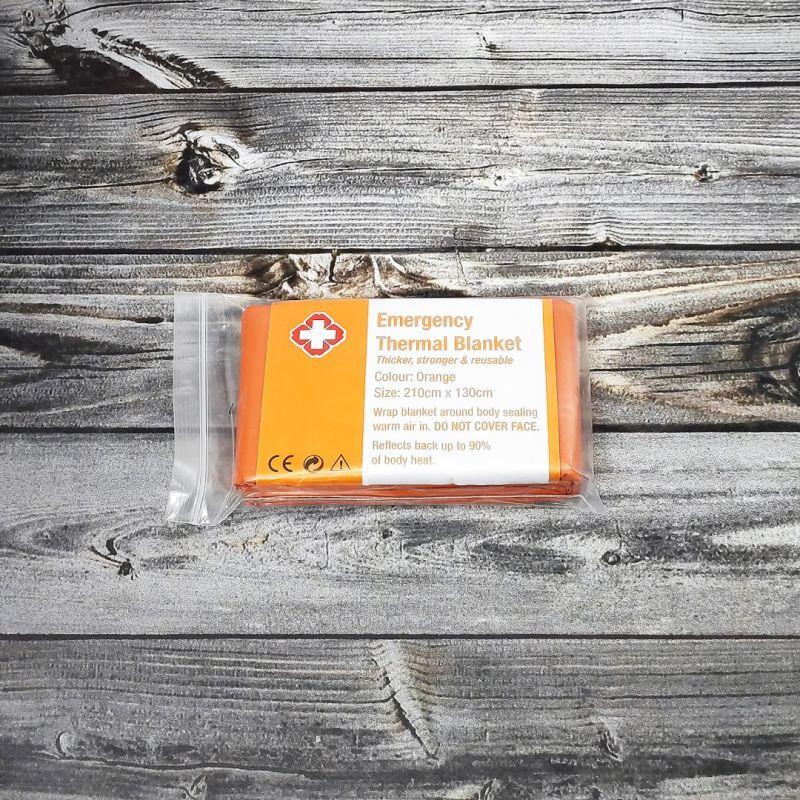 Термоодяло Emergency Thermal Blanket 210х130 см. оранжевое