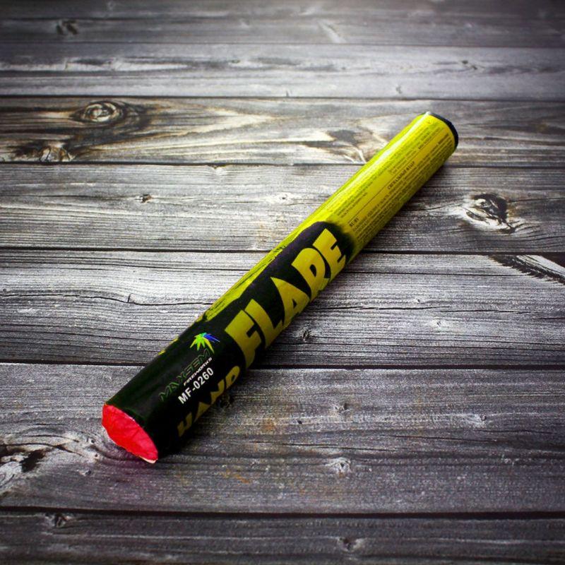 Фальшфейер HAND FLARE желтого огня MF-0260 Yellow