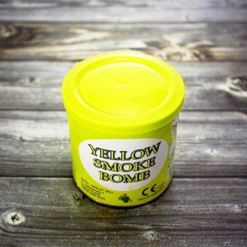 Цветной дым Smoke Bomb желтый