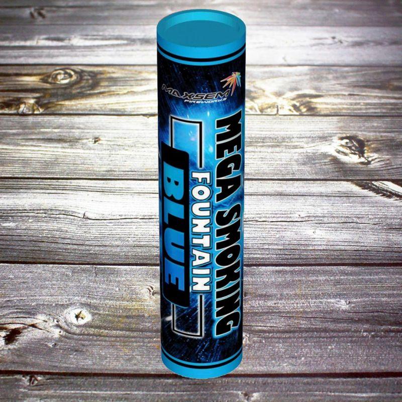 Двухсторонний Цветной дым Mega Smoke Fountain синий