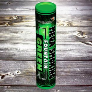 Двухсторонний Цветной дым «Mega Smoke Fountain» зелёный