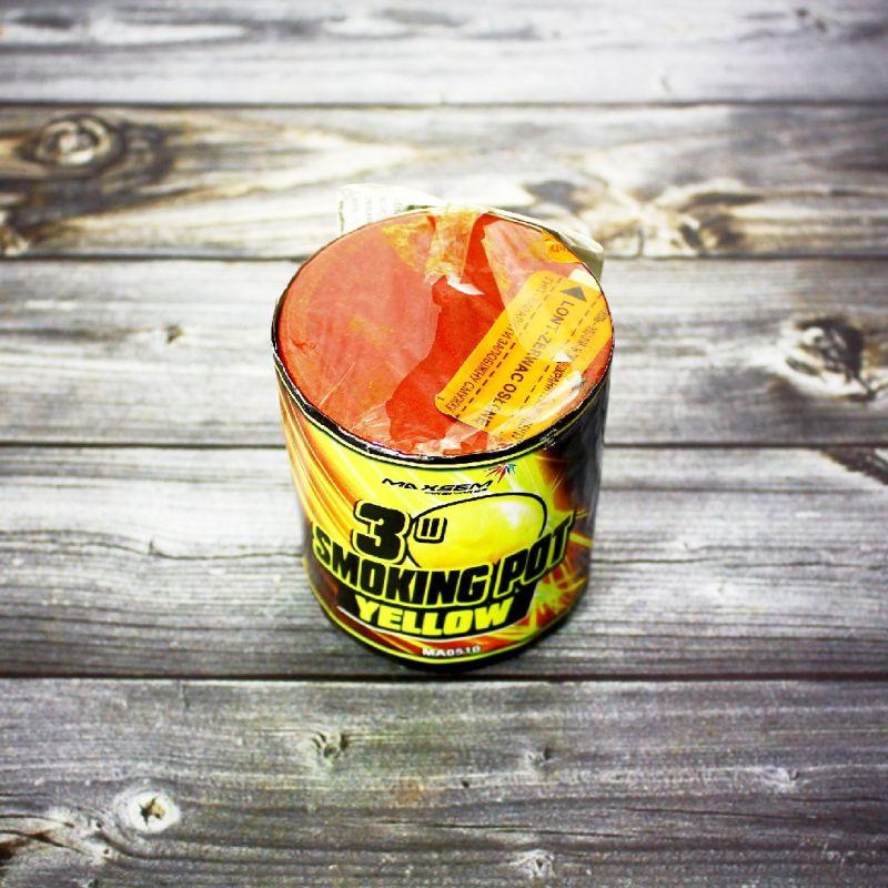 Цветной дым Smoke Pot желтый
