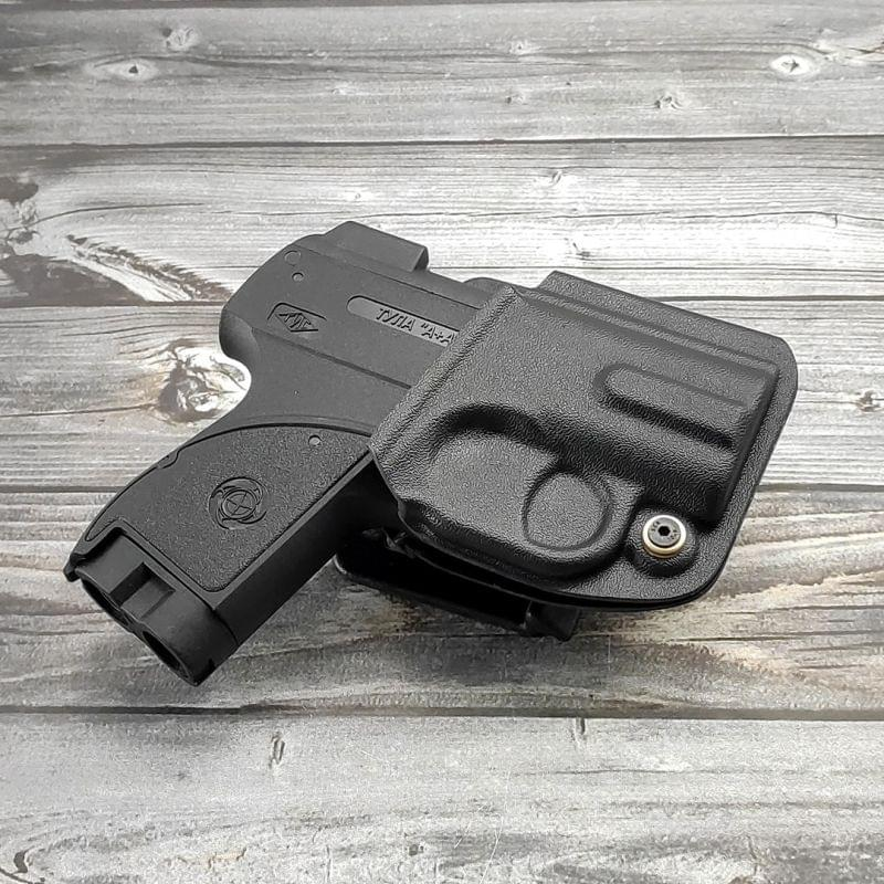 Формованная поясная кобура для аэрозольного пистолета Пионер из ABS-пластика