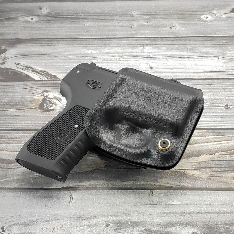 Формованная поясная кобура для аэрозольного пистолета ПРЕМЬЕР из ABS-пластика