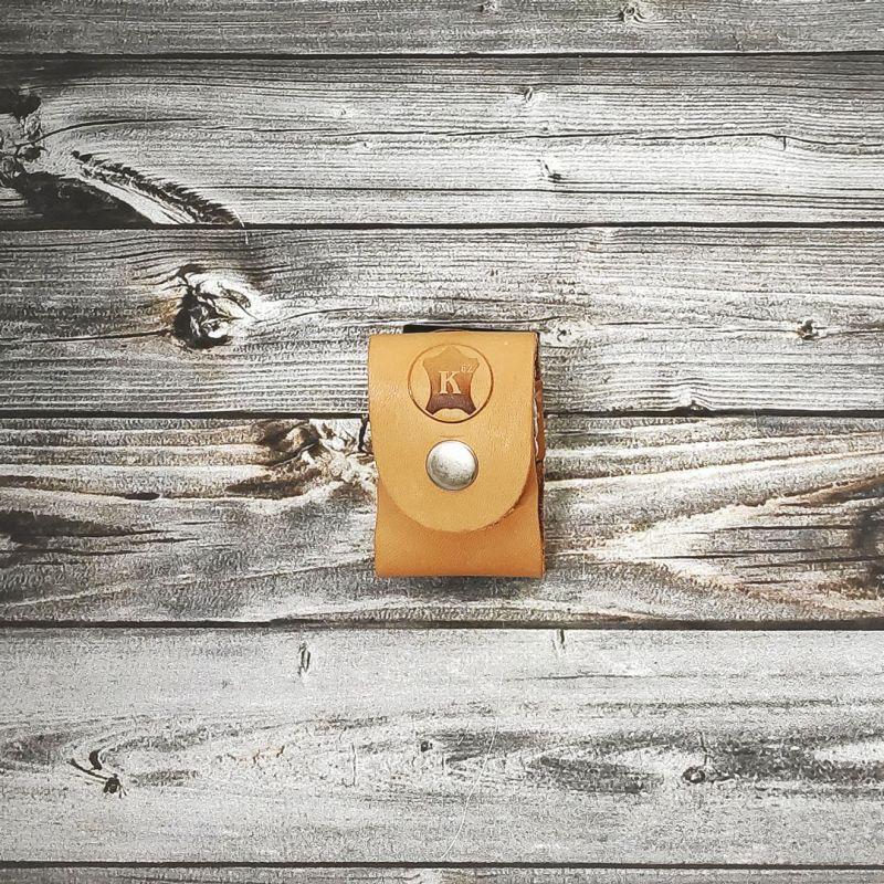 Подсумок-чехол для кассеты под устройства ПРЕМЬЕР, Пионер и ПУ-3 из кожи ЮФТЬ