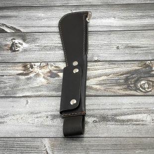 Слеппер «КОШЕЛЕК » кожаный тёмно-коричневый