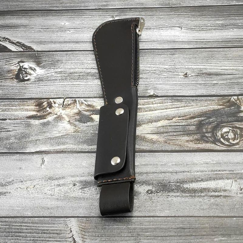 Слеппер-кошелек кожаный тёмно-коричневый